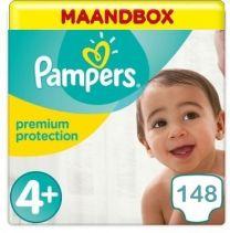 Pampers Premium Protection Maat 4+ - 148 Luiers Maandbox