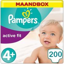 Pampers Active Fit Maat 4+ - 200 Luiers Maandbox