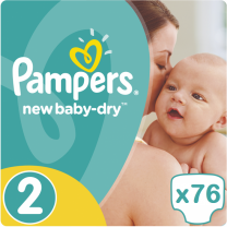 Pampers New Baby Dry Maat 2 - 76 Luiers