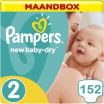 Pampers New Baby Dry Maat 2 - 152 Luiers Maandbox