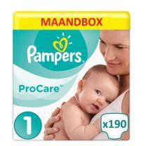 Pampers Procare Premium Protection Maat 1- 190 Luiers Maandbox