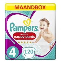 Pampers Active Fit Nappy Pants Maat 4 - 120 Luierbroekjes Maandbox