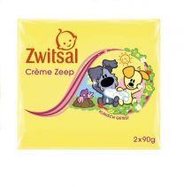 Zwitsal Baby Crème Zeep 2x 90 Gram Woezel & Pip