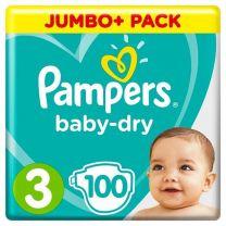 Pampers Baby Dry Maat 3 - 100 Luiers