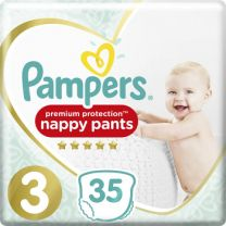 Pampers Premium Protection Pants Maat 3 – 35 Luierbroekjes