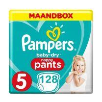 Pampers Baby Dry Pants Maat 5 - 128 Luierbroekjes Maandbox