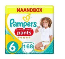 Pampers Premium Protection Pants Maat 6 - 168 Luierbroekjes Maandbox XXL