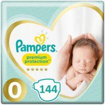 Pampers Premium Protection 0 - 144 Luiers Maandbox