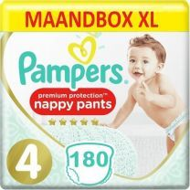 Pampers Premium Protection Pants Maat 4 - 180 Luierbroekjes Maandbox XL
