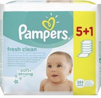 Pampers Billendoekjes Babydoekjes Fresh Clean  6 x 64 Stuks
