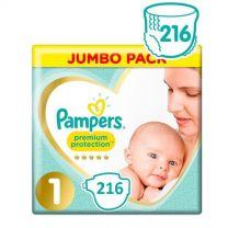 Pampers Premium Protection Luiers Maat 1 - 216 Luiers Maandbox