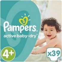 Pampers Active Baby Dry Maat 4+ - 39 Luiers