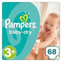 Pampers Baby Dry Maat 3+ - 68 Luiers