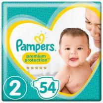 Pampers Premium Protection New Baby Maat 2 - 54 Luiers