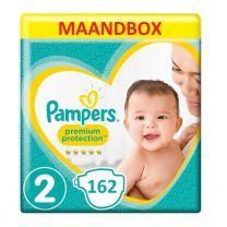 Pampers Premium Protection New Baby Maat 2 - 162 Luiers Maandbox