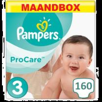 Pampers Procare Maat 3 – 160 Luiers Maandbox
