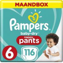 Pampers Baby Dry Pants Maat 6 - 116 Luierbroekjes Maandbox