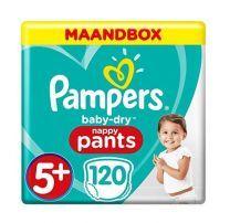 Pampers Baby Dry Pants Maat 5+ - 120 Luierbroekjes Maandbox
