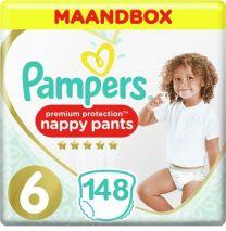 Pampers Premium Protection Pants Maat 6 - 148 Luierbroekjes Maandbox XL