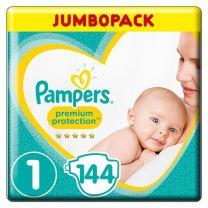 Pampers Premium Protection Maat 1 - 144 Luiers Maandbox