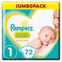 Pampers Premium Protection Luiers - Maat 1 - 72 Stuks