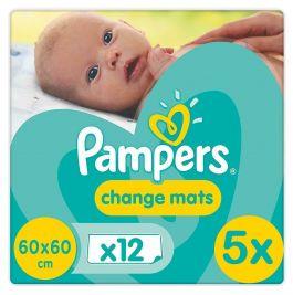 Pampers Change Mats Verschoon Matjes 60x60cm 5x12 Stuks Voordeelverpakking