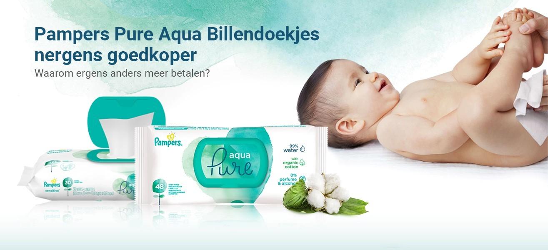 Pampers Pure Aqua billendoekjes aanbiedingen